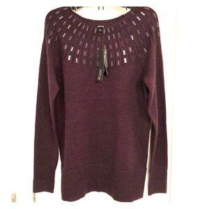 NWT apt 9 purple sweater